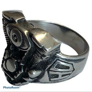 V-twin chopper motor biker ring